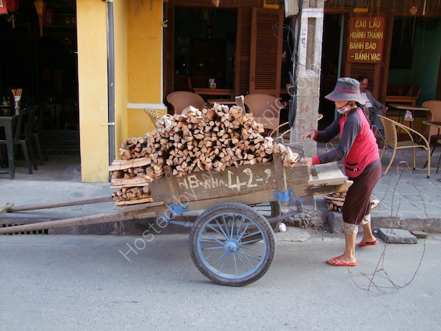 Handcart Loaded with Firewood, Hoi An