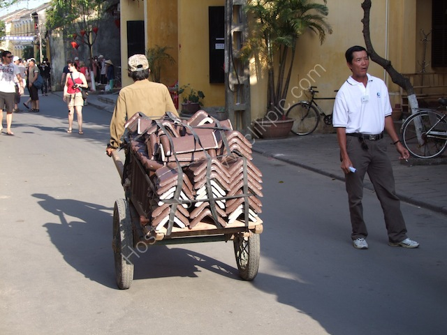 Carrying Roof Tiles, Hoi An