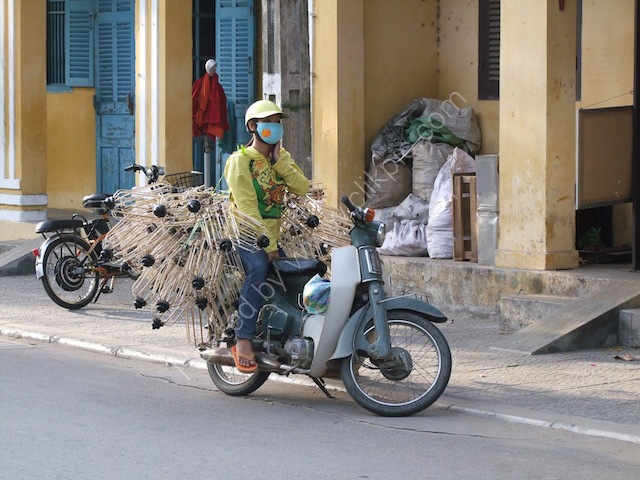 Motorbike with Lampshade Frames, Hoi An