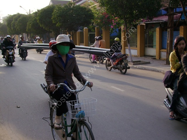 Motorbike Transport of Long Pipes, Hoi An