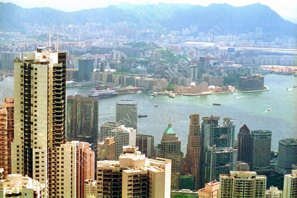 View of Hong Kong Island and Kowloon