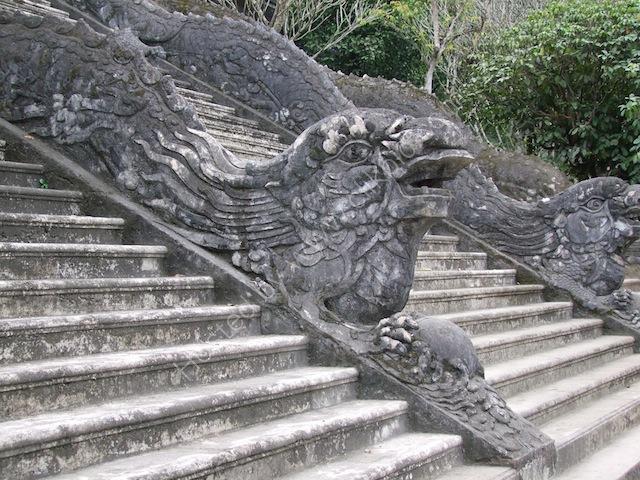 Detail of Main Entrance Steps, Khai Dinh Tomb, Hue
