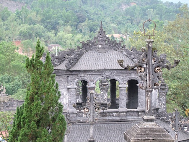 Detail of Roof of Another Building on Khai Dinh Tomb Complex, Hue