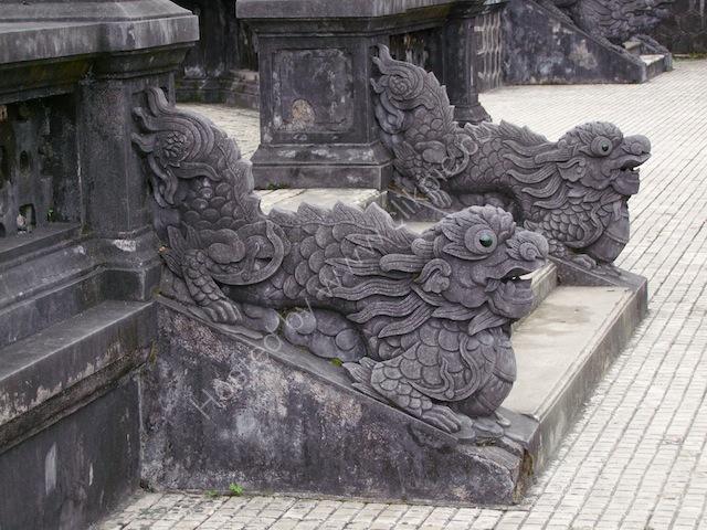 Detail on Steps, Khai Dinh Tomb, Hue