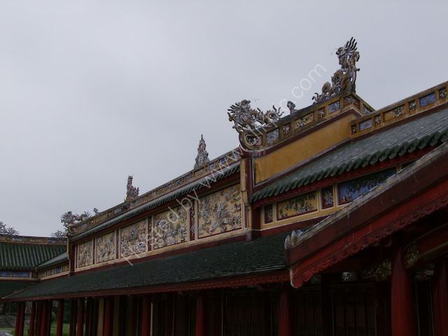 Roof Detail of Restored Building, Kinh Thanh (Citadel), Hue