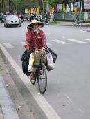 Cyclist with Shopping, Hue