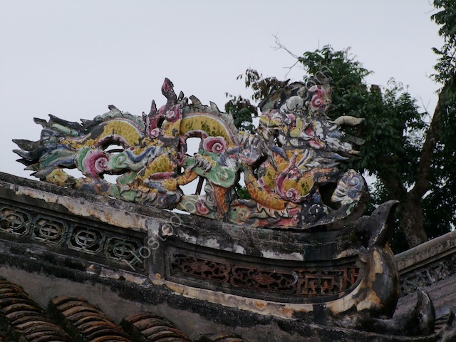 Roof Detail, Tu Duc Tomb, Hue