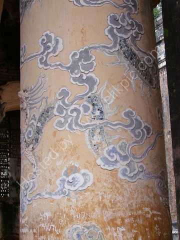 Pillar Detail in Building before the Actual Tomb, Tu Duc Tomb, Hue