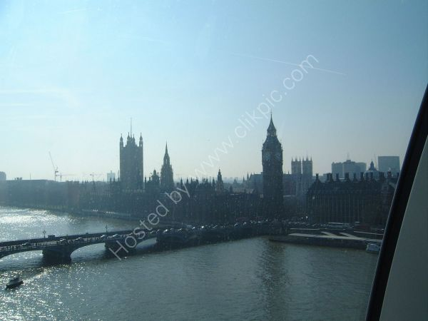View of Westminster & House of Parliament from London Eye, London