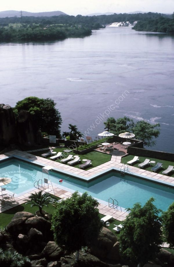 Intercontinental Hotel Pool on River Orinoco & El Parque Cachamay, Puerto Ordaz