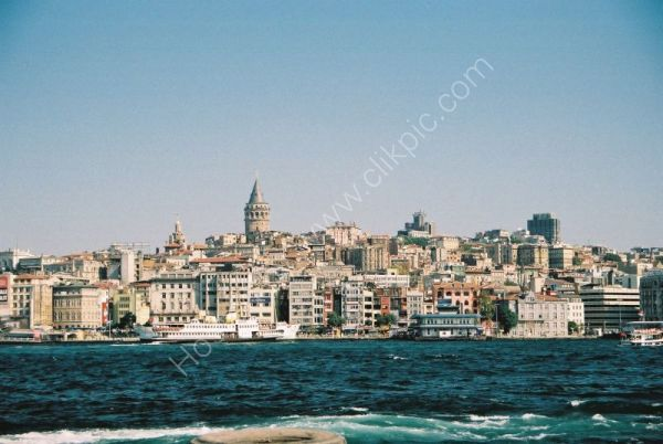 European Side of Istanbul & Galata Tower in background, Turkey