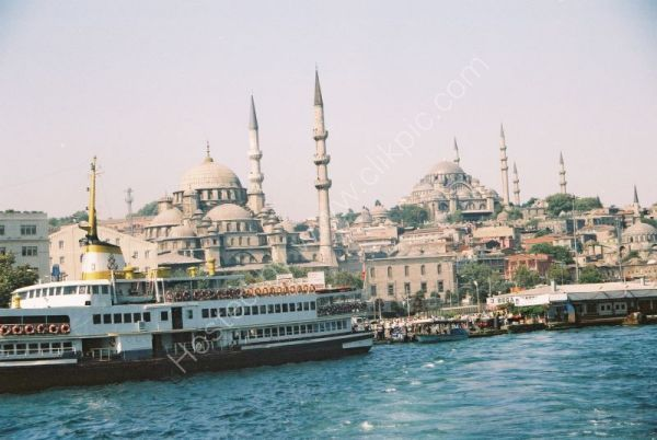 Istanbul, Old City, from the Bosphorous, Turkey