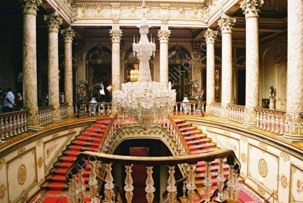 Interior, Dolmabahce Palace, Istanbul, Turkey