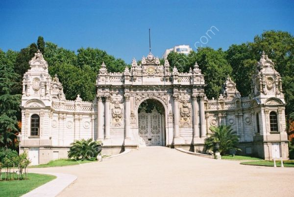 One Entrance to Dolmabahce Palace, Istanbul, Turkey