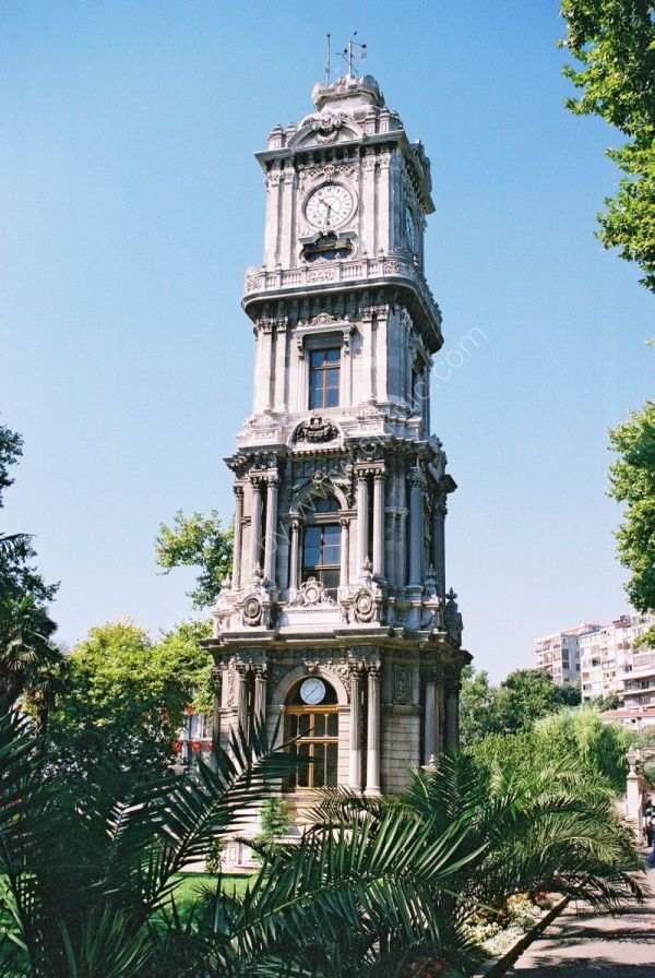 Clock Tower at Dolmabahce Palace, Istanbul, Turkey