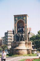 Monument of Statue of Taksim Cumhuriyet Aniti, Taksim Square, Istanbul