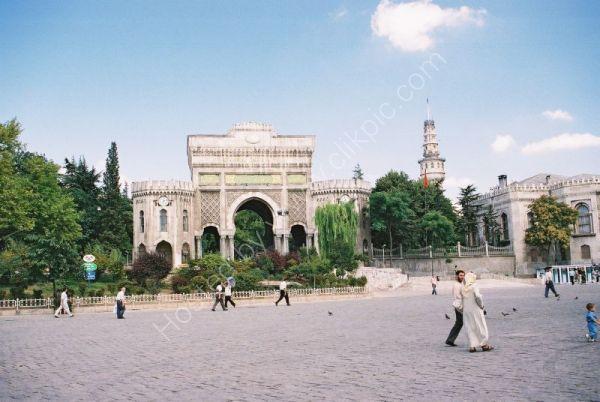 Entrance to Istanbul University, Turkey