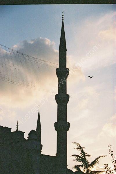 Blue Mosque Minaret at Dusk, Istanbul