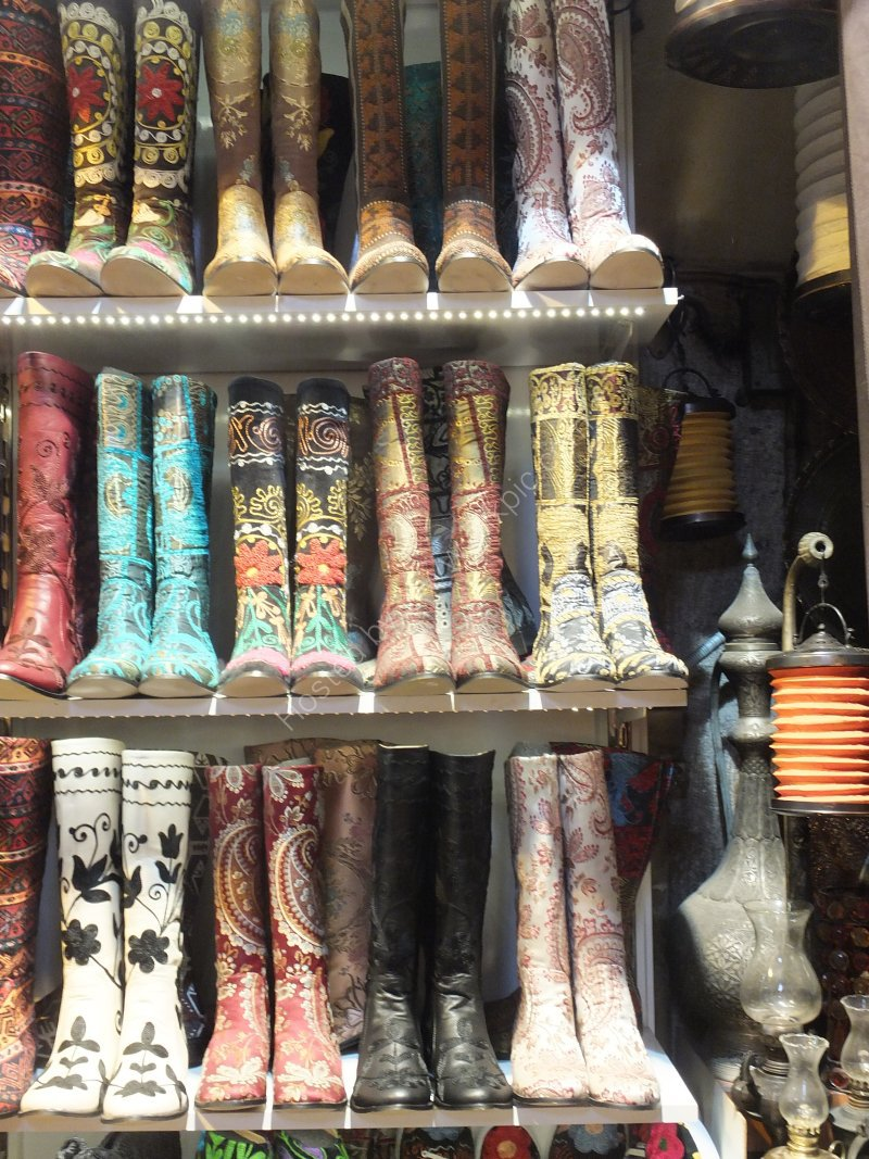 Unusual Leather Boot Store, Grand Bazaar, Istanbul