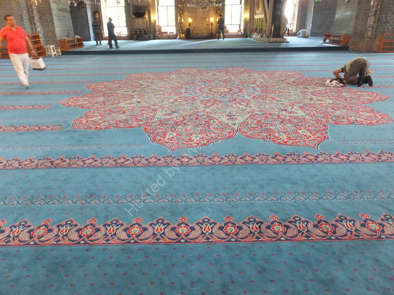 Carpet inside New Mosque 1883, Istanbul
