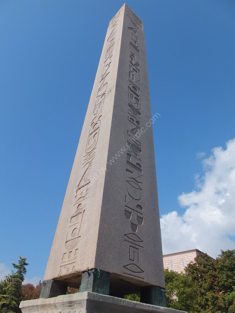Obelisk 1500 BC adjacent to Blue Mosque, Istanbul