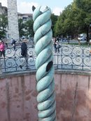 Damaged Roman Bronze of 3 Intertwined Snakes, adjacent to Blue Mosque, Istanbul