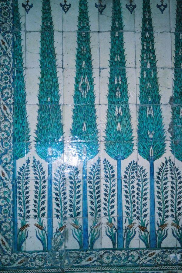 Tiles, Topkapi Palace, Istanbul, Turkey