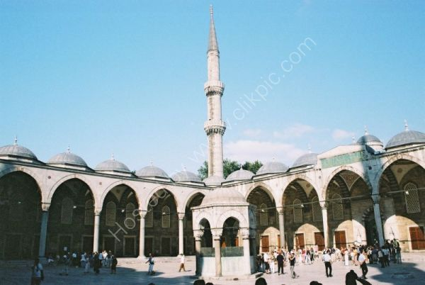 Courtyard Entrance, Blue Mosque, Istanbul, Turkey
