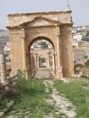 Looking through Multiple Roman Gates, Jerash