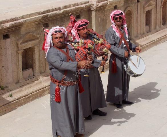 Jordanian Musicians, Jerash