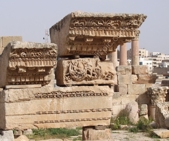 Detail of North Collonaded Street, Jerash