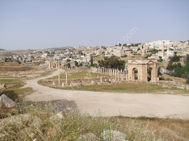 North Gate in Distance, Jerash