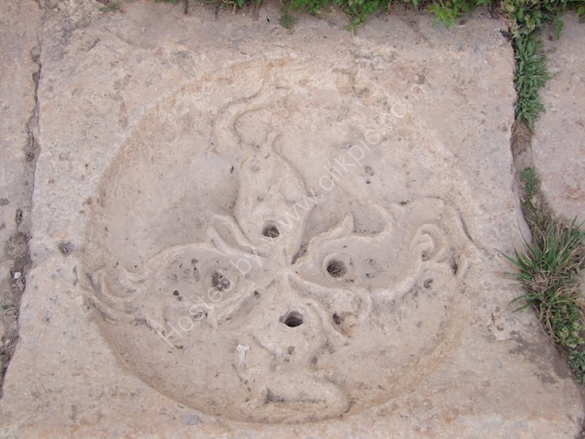 Carved Sidewalk Basin in the Nymphaeum, Jerash