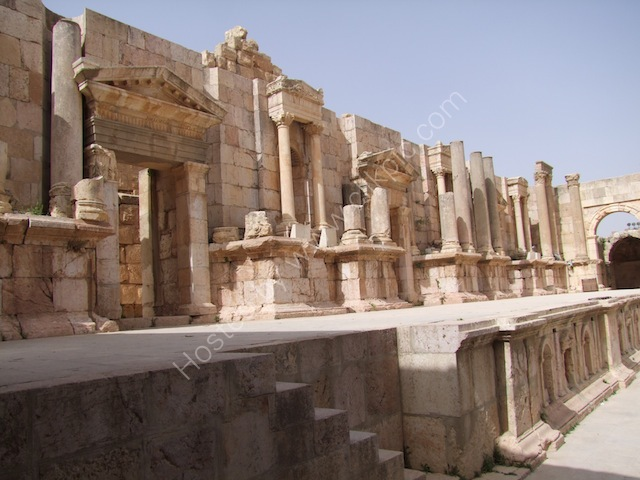 Roman South Theatre Stage, Jerash