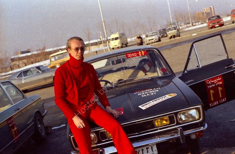 Jonathan Harrison at Car Rally Start, Tehran, Iran