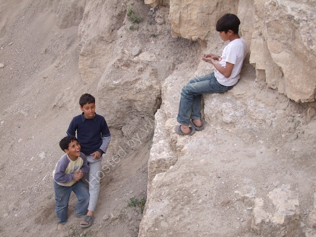 Jordanian Children, Karak Castle