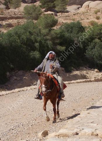 Jordanian Horseman, Petra