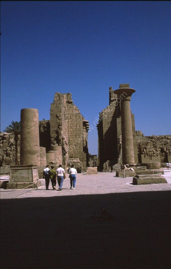 View of Karnak Temple through Hypostyle Hall, Luxor