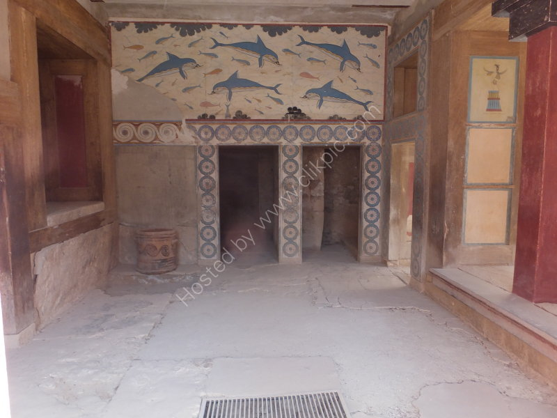 Dolphin Walls, Reconstructed Knossos Palace