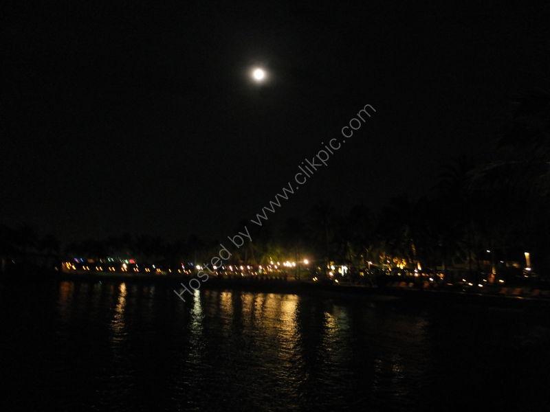 The Moon over Kota Kinabalu