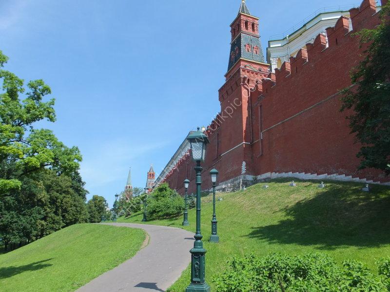 Kremlin Walls & Towers seen from Alexander Park