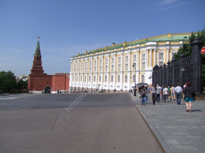 Borovitskaya Tower (left) & Armoury Chamber (right) within the Kremlin