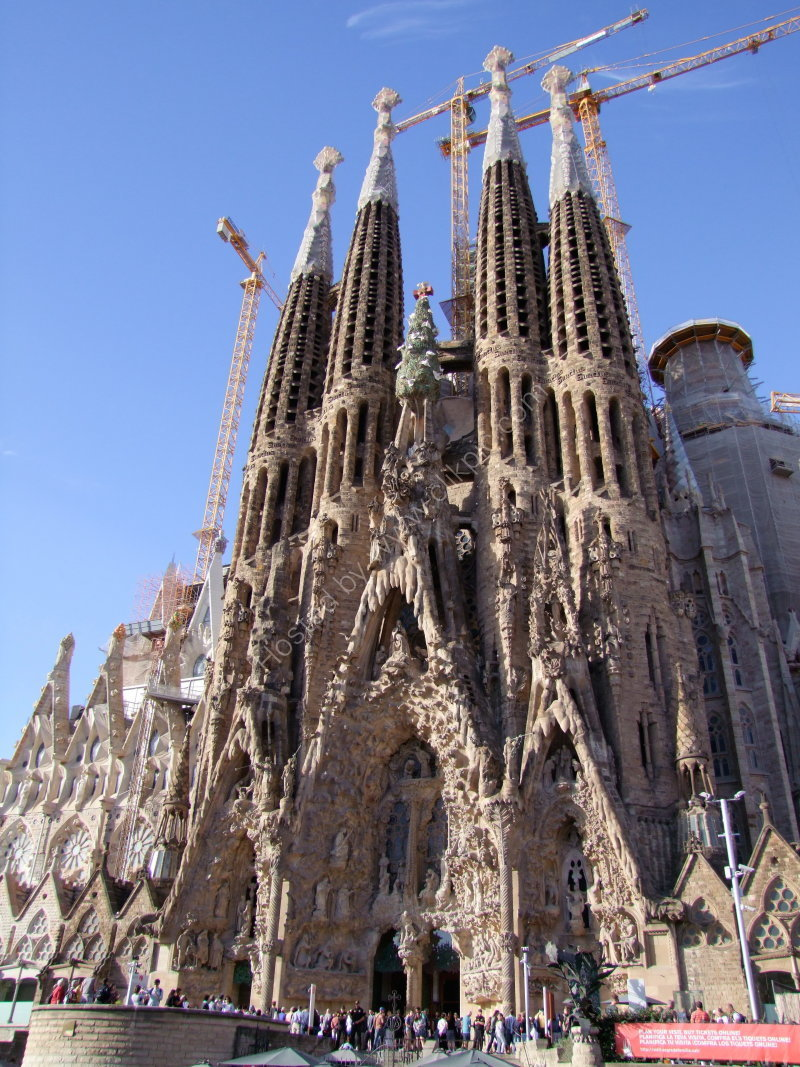 Facade of La Sagrada Familia