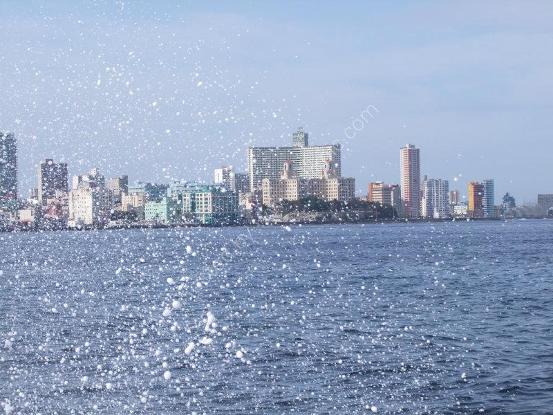 Looking at Modern Havana from the Malecon, Havana