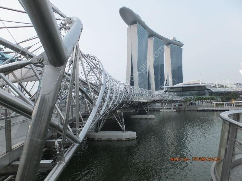 Walkway to Marina Bay Sands Hotel