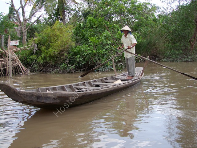 Vietnamese Rowing Boat, Mekong Delta
