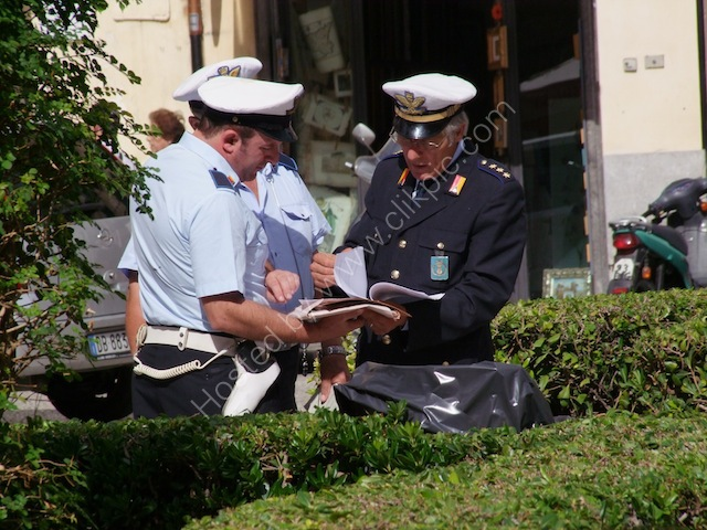 Sicilian Policemen being given Orders!, Monreale