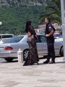Montenegran Woman & Policeman, Kotor