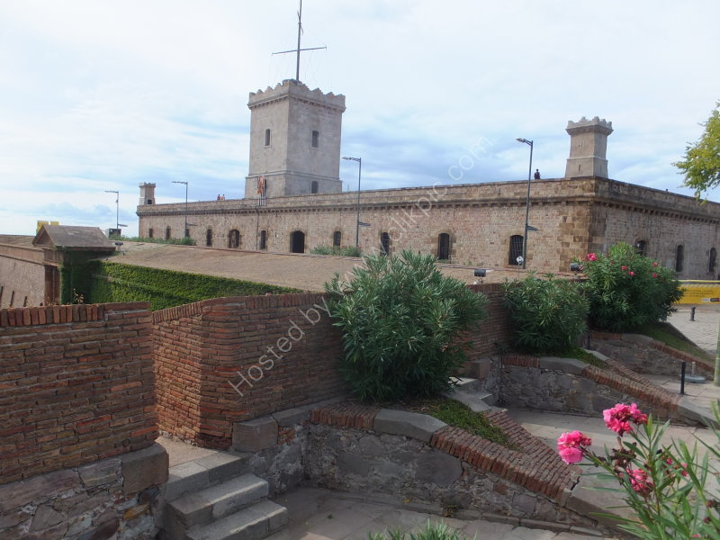 Montjuic Castle above Moat Walls
