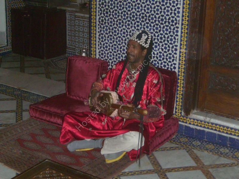 Moroccan Musician, Maison Blue, Fes